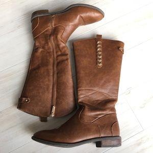Girl's Sam Edelman Cognac Knee-High Boots